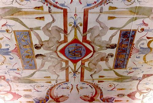 Plafond à grotesque (XVIe siècle)